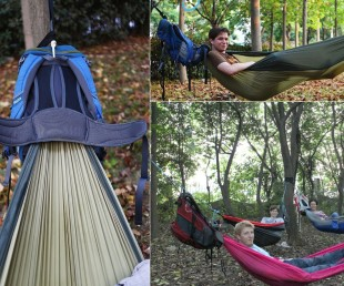 The HackedPack Backpack Features Built in Hammock