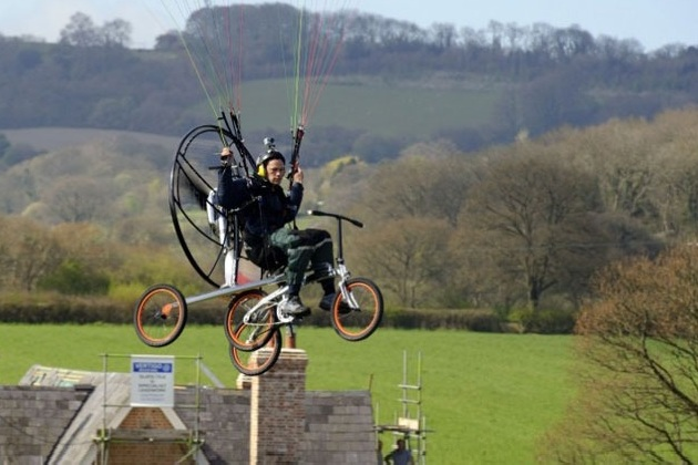 The Worlds First Flying Bicycle