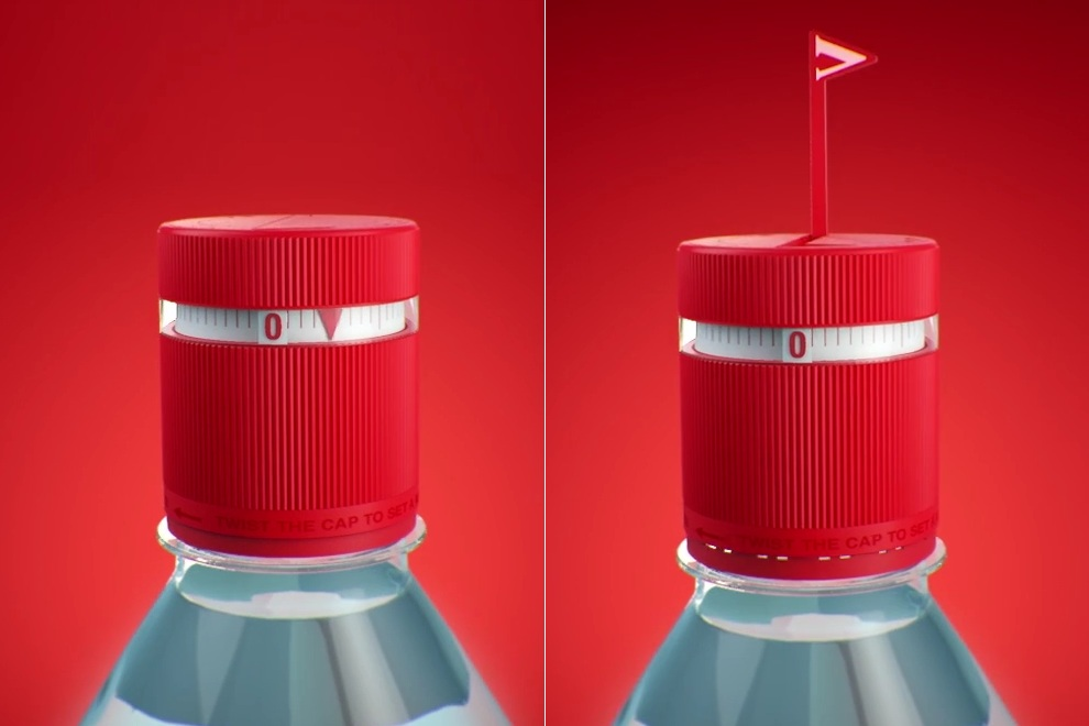 This Vittel Water Bottle Will Remind You to Drink Every Hour