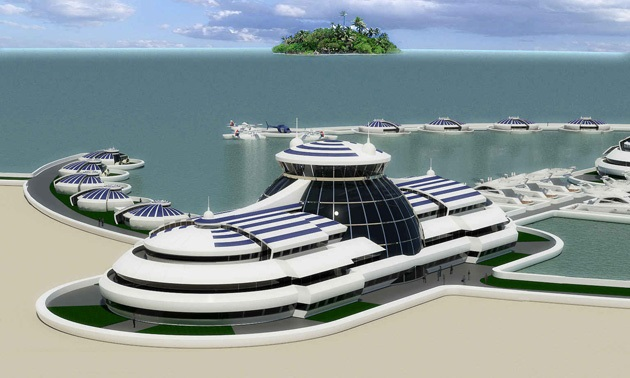 The Luxury Solar Floating Island Resort (9)