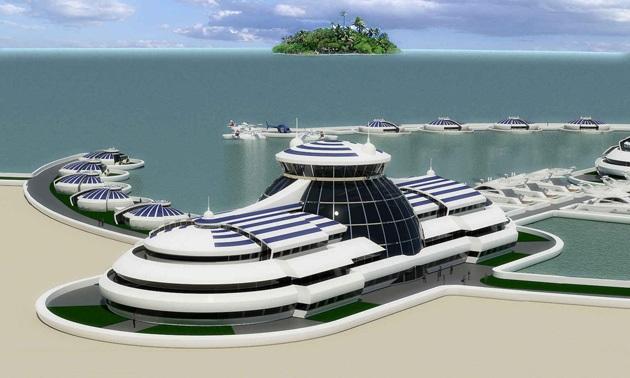 The Luxury Solar Floating Island Resort (9)