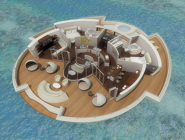 The Luxury Solar Floating Island Resort (6)
