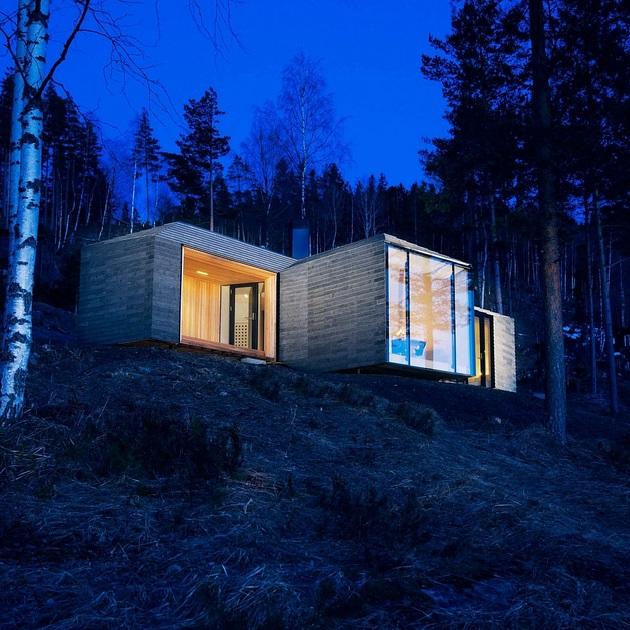 Σύγχρονη Νορβηγική Καμπίνα Σχεδιασμένο για τη ζεστασιά