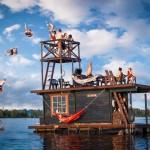 Floating Sauna Houseboat Saunalautta