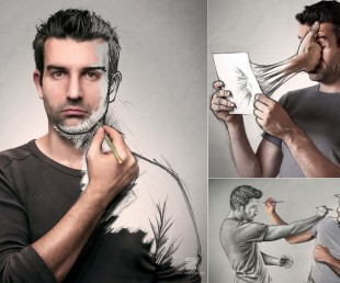 French Artist Combines Photography and Illustration