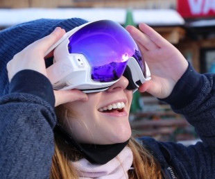 RideOn Augmented Reality Ski Goggles for Snow Sports