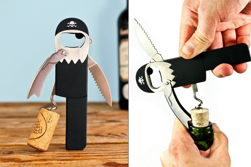 Pirate Bottle Opener and Corkscrew