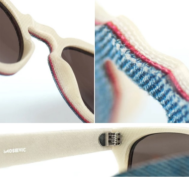 Solid Denim Sunglasses