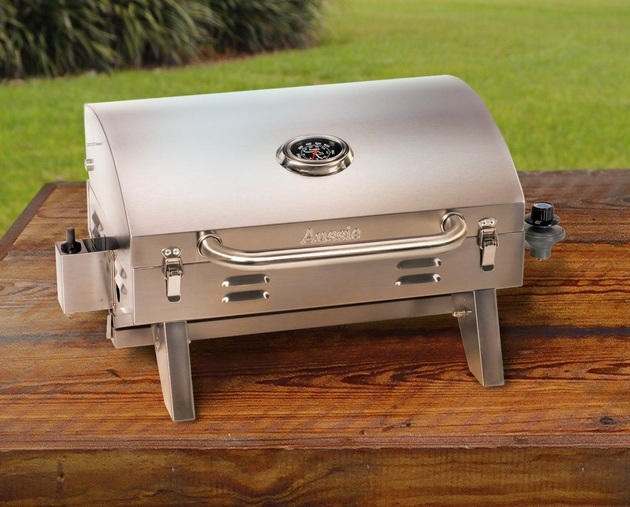 Aussie 205 Stainless Steel Tabletop Gas Grill (2)