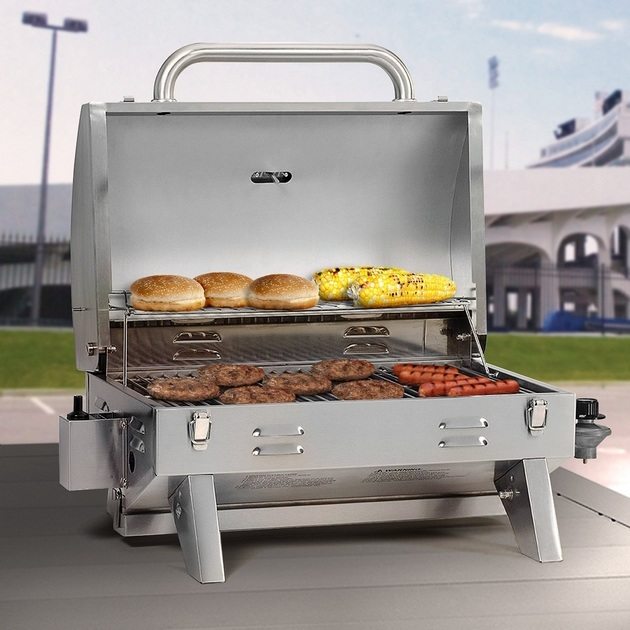 Aussie 205 Stainless Steel Tabletop Gas Grill (3)