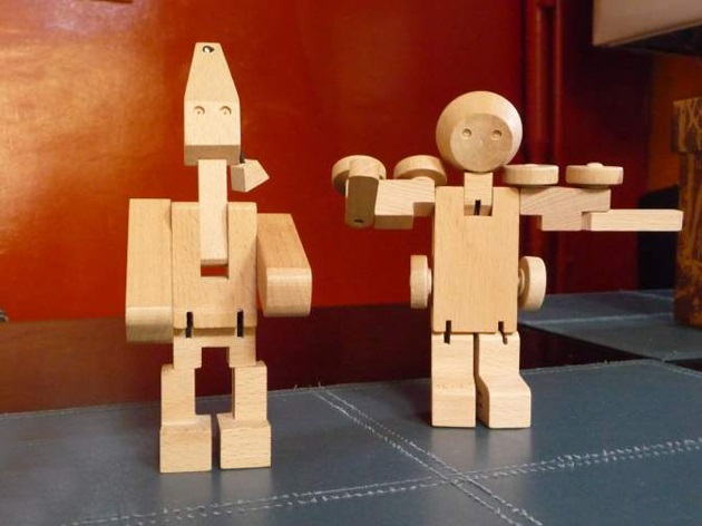 Meet WooBots Creative Wooden Robot Toy (2)