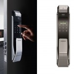 Samsung Digital Door Lock SHS-P718 Fingerprint Push Pull Two Way Latch Mortise (1)