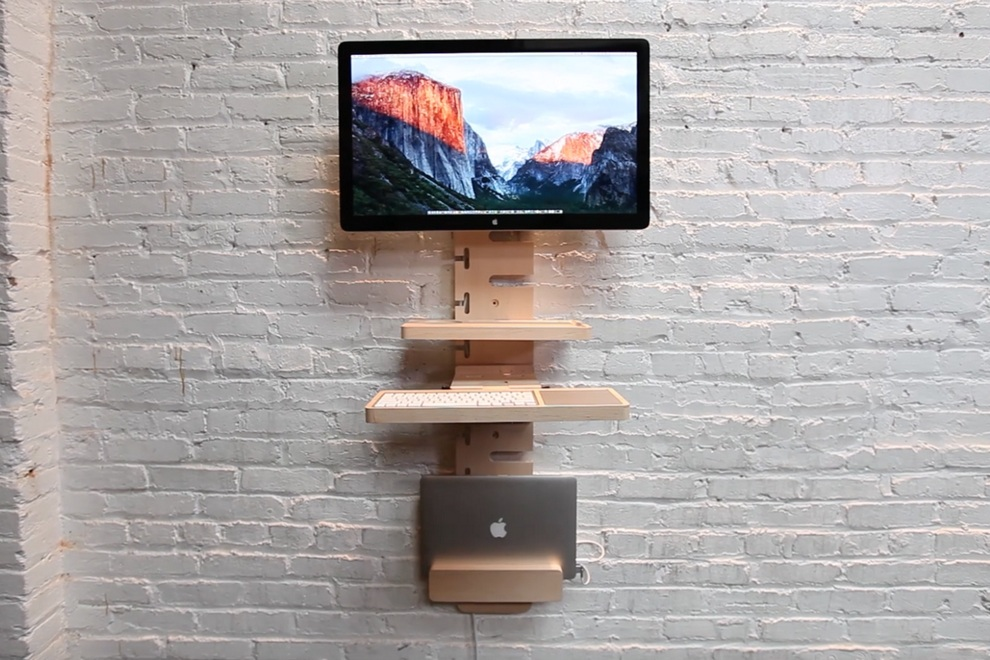 Standcrafted Wall Mounted Standing Desk Bonjourlife