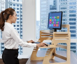 Adjustable Plywood Standing Desk For Home Office (2)