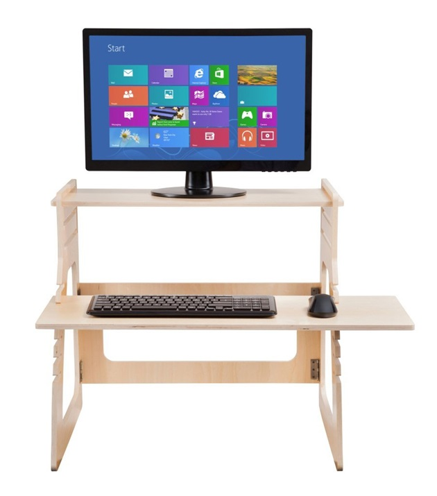 Adjustable Plywood Standing Desk For Home Office (3)
