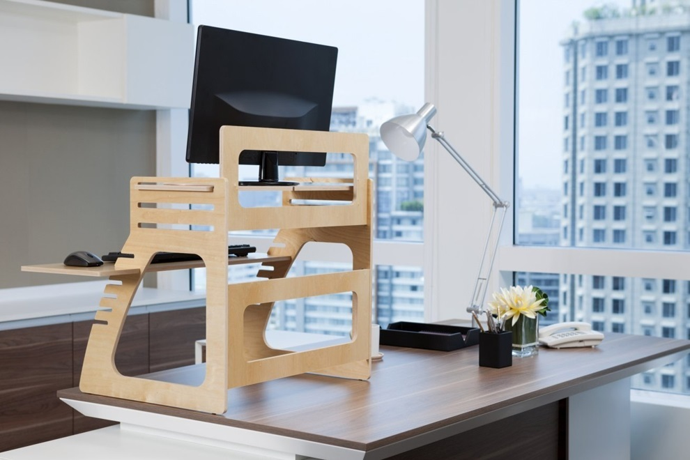 Adjustable Plywood Standing Desk For Home Office
