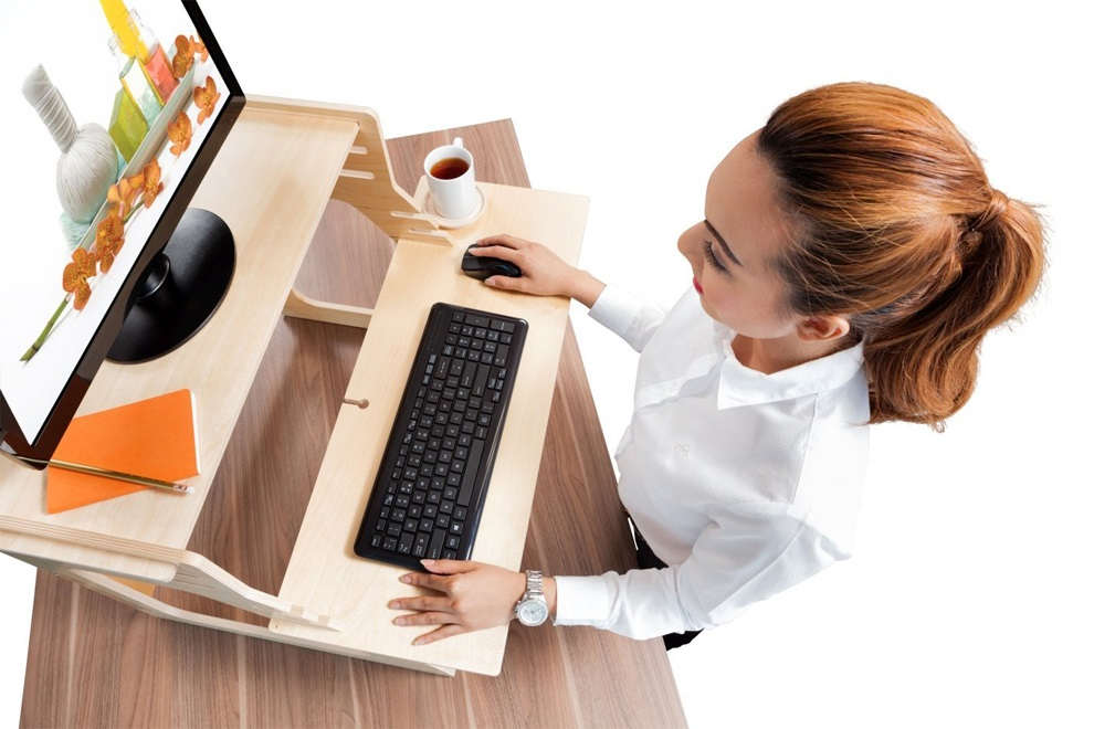 Adjustable Plywood Standing Desk For Home Office (5)