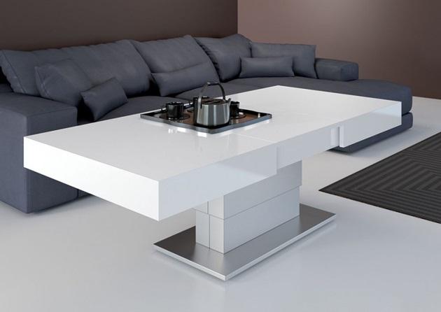 Armadillo presents two in one dining table bonjourlife for Tavolini da salotto moderni calligaris