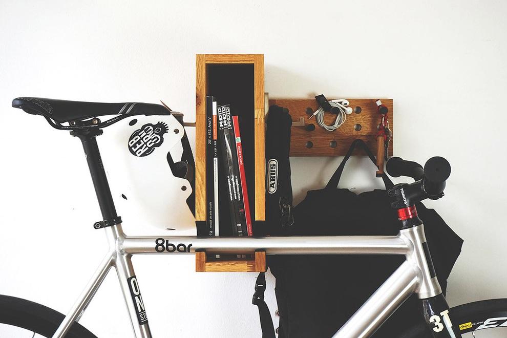 BERLIN+ Wooden Bicycle Shelf (1)