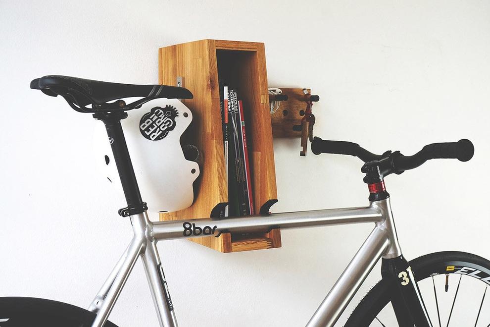BERLIN+ Wooden Bicycle Shelf (2)