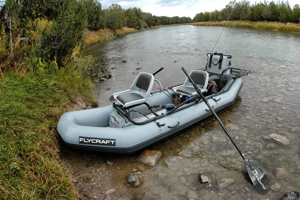 Flycraft is versatile inflatable fishing boat for personal for Inflatable fishing boats