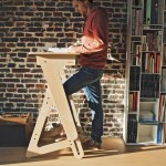 JASWIG StandUp Adjustable Standing Desk Made of Wood (2)