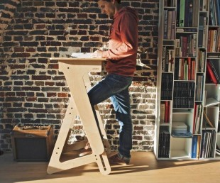 JASWIG StandUp Adjustable Standing Desk Made of Wood (2)