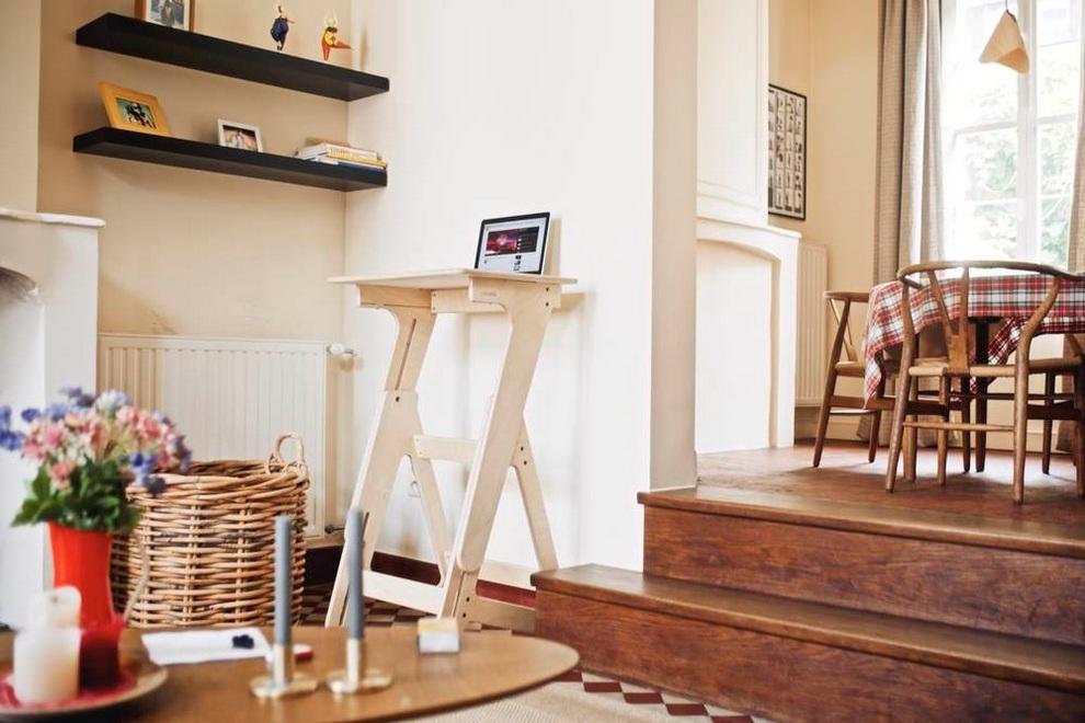 JASWIG StandUp Adjustable Standing Desk Made of Wood (4)