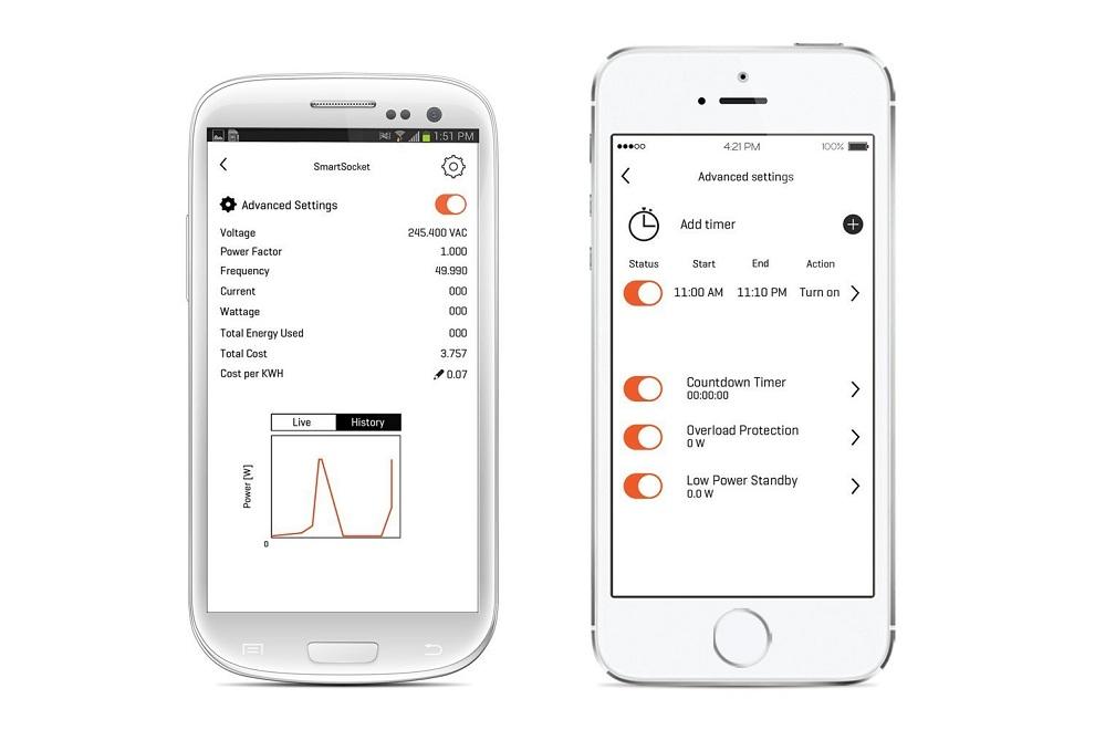 oort smartsocket energy meter saves electricity cost