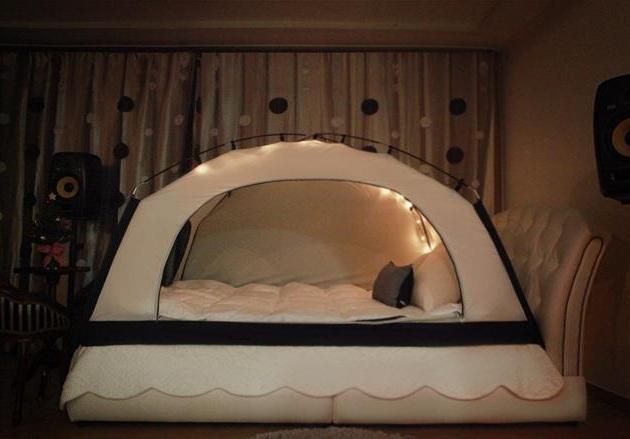 Charming Room In A Cozy Bed Tent Bonjourlife Tent For Bedroom Rooms. Tent In Bedroom
