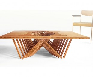 The Rising Space-Saving Bamboo Table (2)