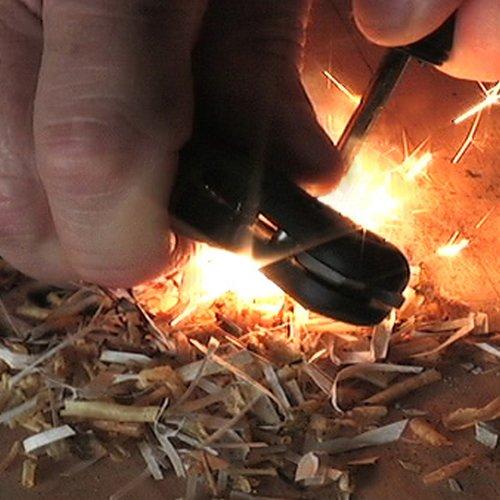 Tool Logic SLPB2 Tactical Folding Knife With LED Flashlight, Magnesium Fire Starter and Signal Whistle (3)