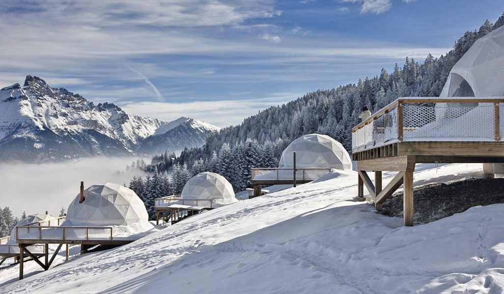 Whitepod Hotel Swiss Alps in Les Cerniers (14)
