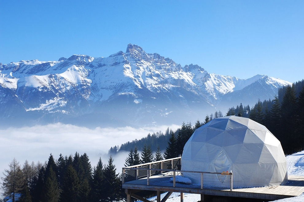 Whitepod Hotel Swiss Alps in Les Cerniers (15)