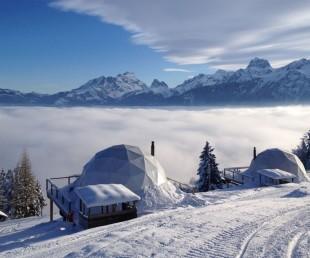 Whitepod Hotel Swiss Alps in Les Cerniers (7)