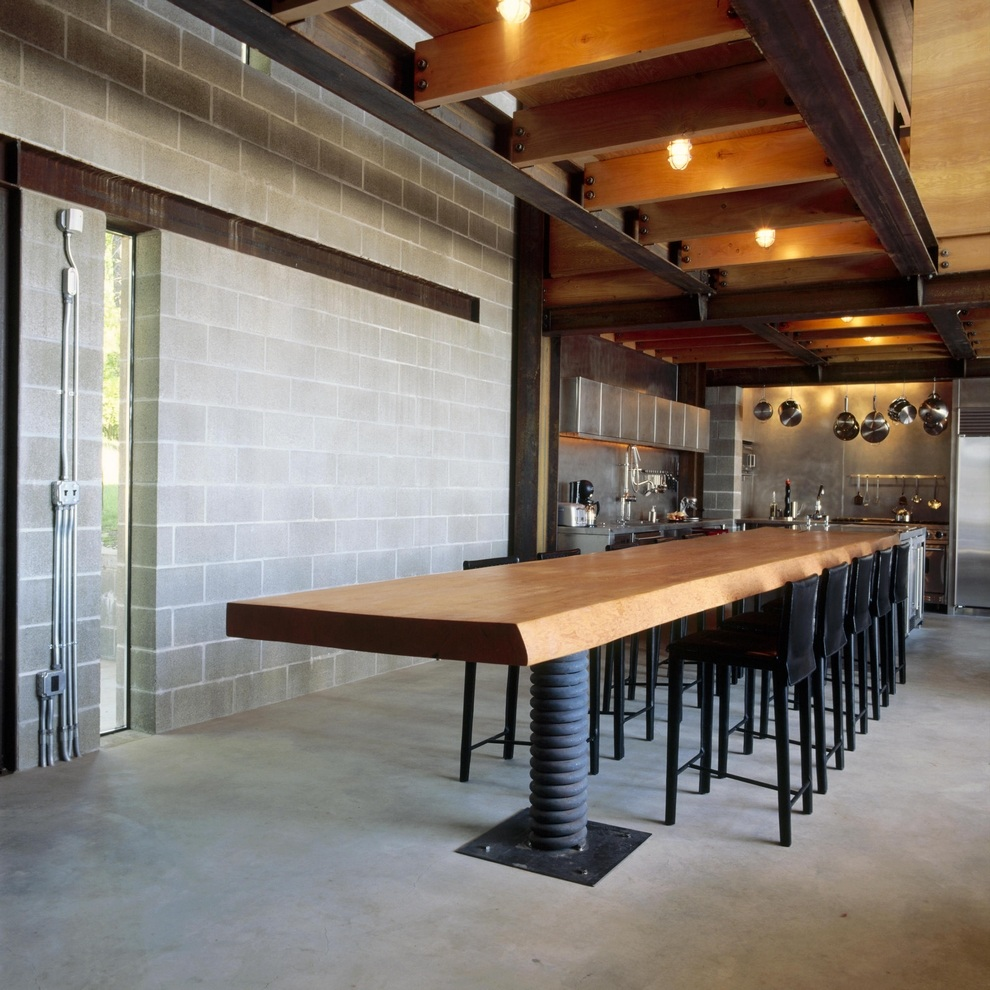 Industrial Kitchen Hire: Chicken Point Cabin Is A Truly Industrial-themed Loft For