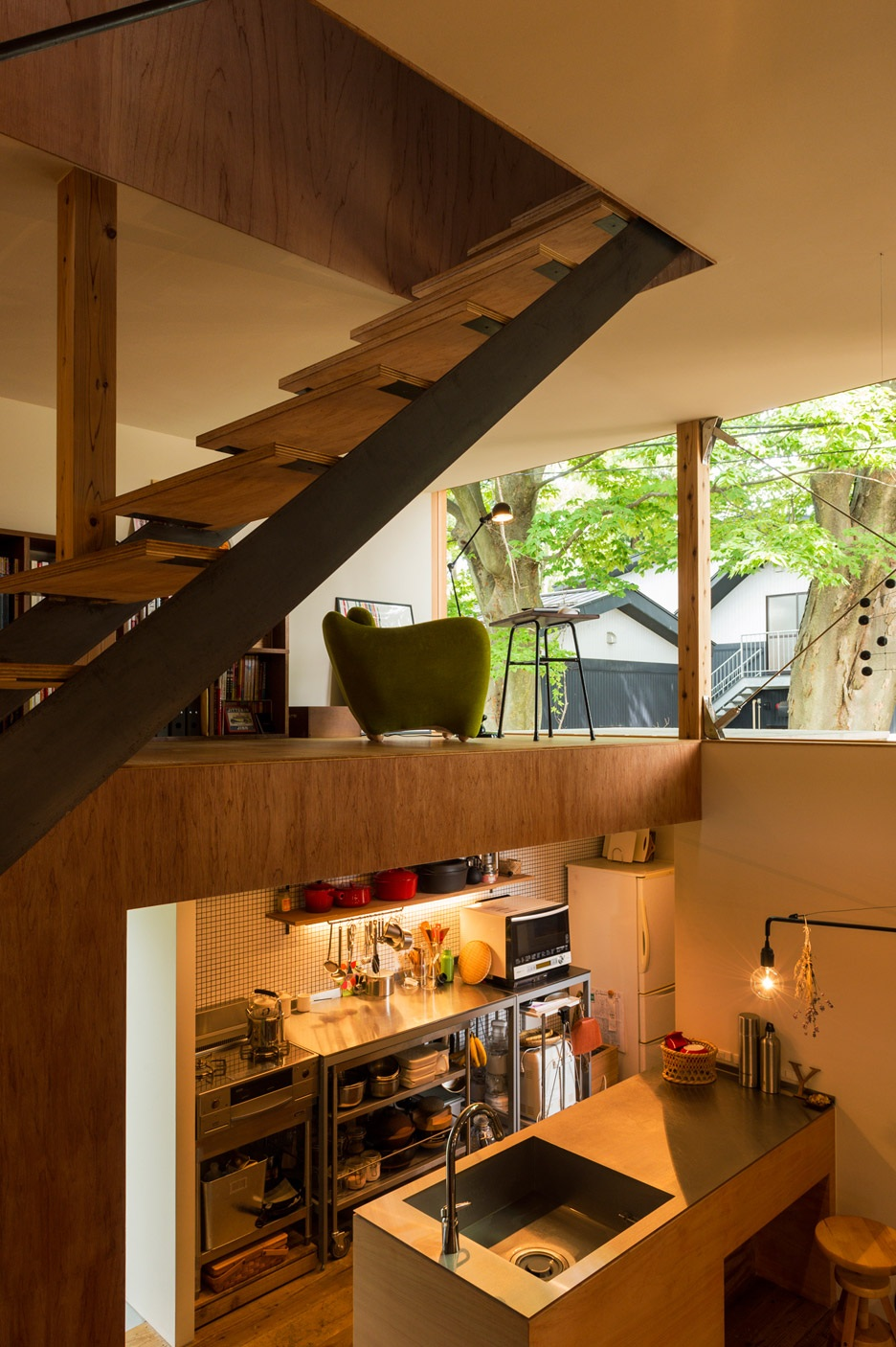 Compact Wooden House by Takeru Shoji Architects (2)
