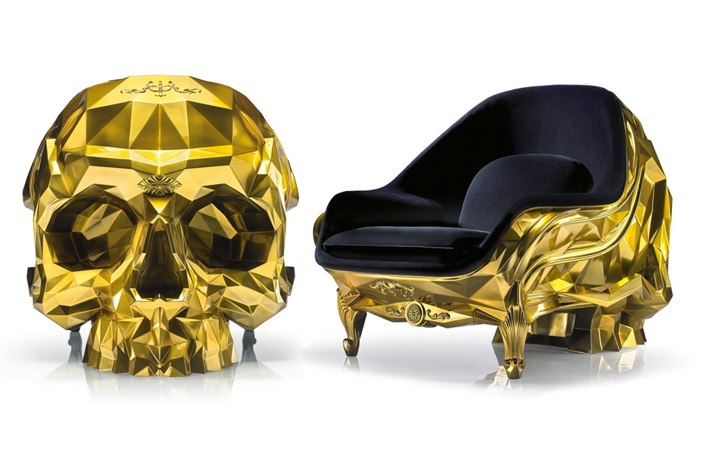 Gold Skull - 24k Gold Plated Armchair by Harow (1)