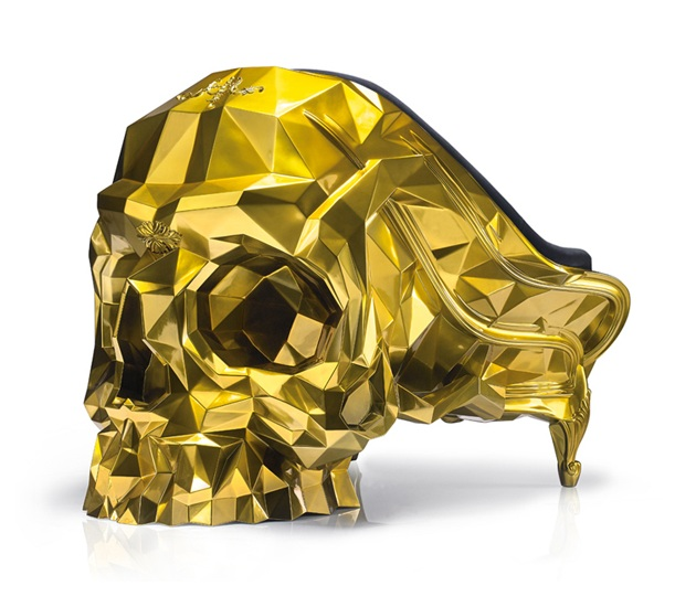 Gold Skull - 24k Gold Plated Armchair by Harow (2)