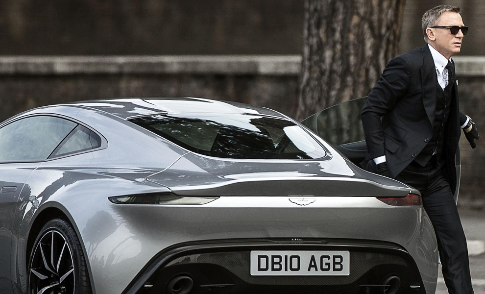 FILE - In this Saturday, Feb. 21, 2015 file photo, actor Daniel Craig steps out of a sports car during the shooting of the latest James Bond movie 'Spectre', in Rome. (AP Photo/Angelo Carconi, Ansa)