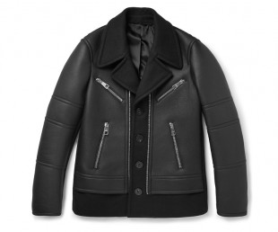 NEIL BARRETT Leather And Wool-Blend Jacket (1)