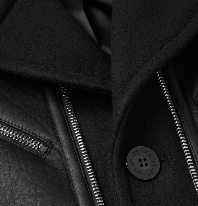 NEIL BARRETT Leather And Wool-Blend Jacket (3)