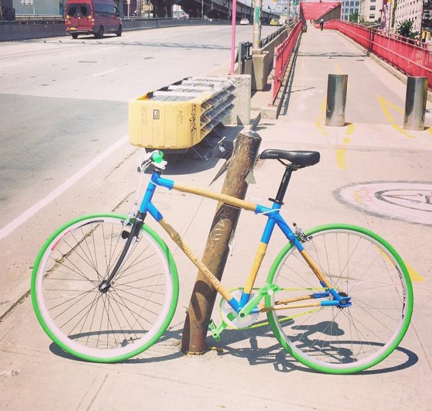 Pedal Forward Bicycle Uses Bamboo as Frame 01