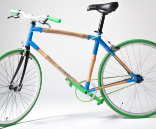 Pedal Forward Bicycle Uses Bamboo as Frame