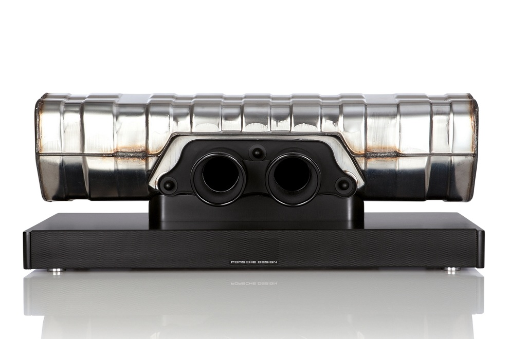 porsche design converts 911 gt3 exhaust into soundbar. Black Bedroom Furniture Sets. Home Design Ideas