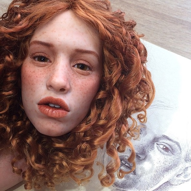 Russian Artist Creates Hyper Realistic Doll Faces That will Give You Chills (5)