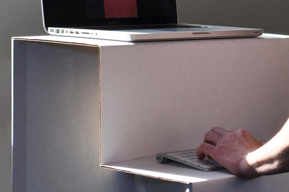 This Flat-Packed Standing Desk is Made Entirely Out of Cardboard (1)