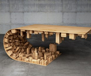 Wave City Coffee Table Inspired by Inception Movie (1)
