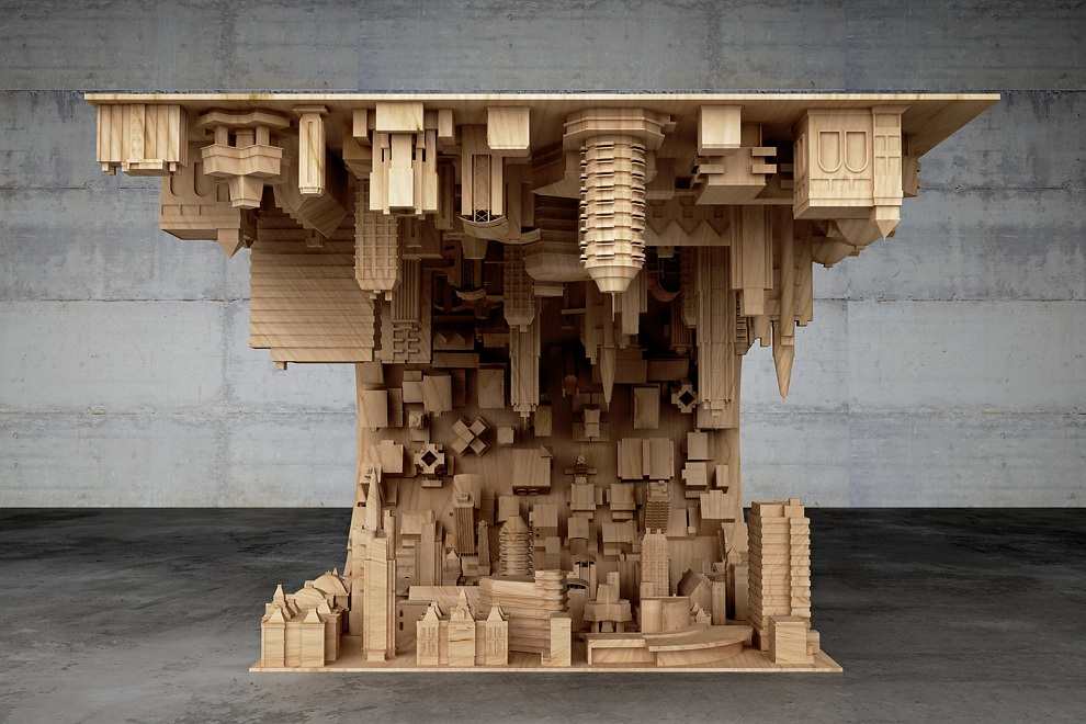 Wave City Coffee Table Inspired by Inception Movie (2)
