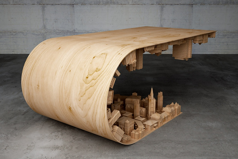Wave City Coffee Table Inspired by Inception Movie (3)